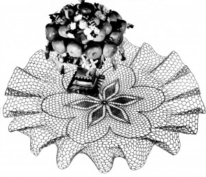Vintage Crafts and More Crochet Doily Pattern Ruffled Poinsettia Posy