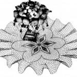 Vintage Crochet Ruffled Doily Pattern Poinsettia Posy
