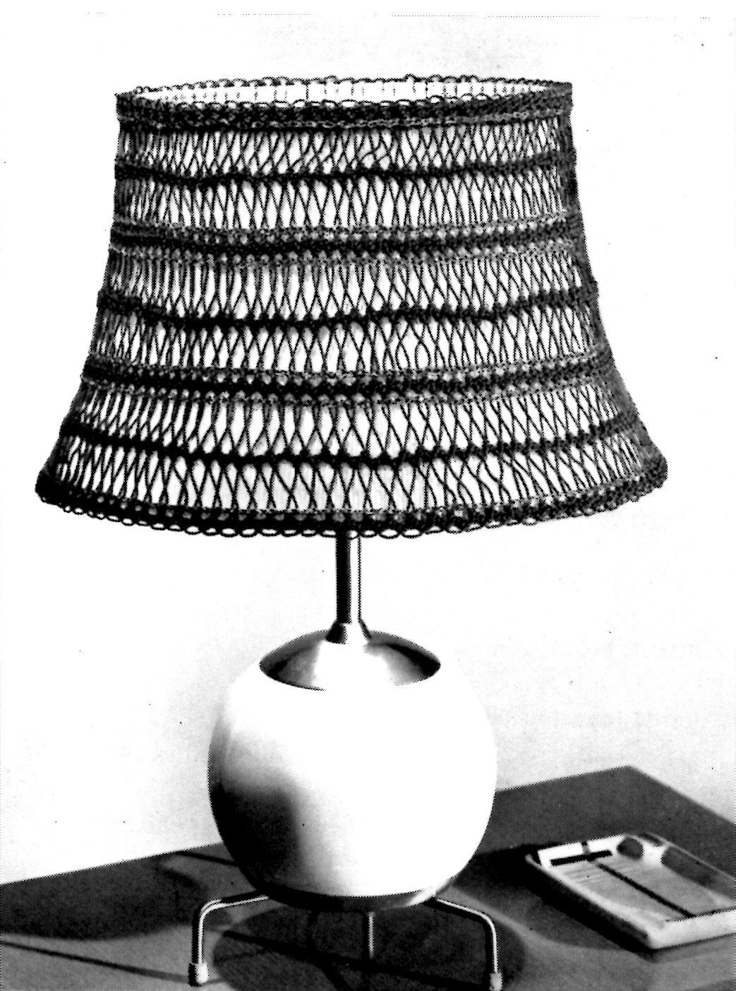 Crocheted lamp shade patterns archives vintage crafts and more vintage crafts and more hairpin lace lamp shade pattern aloadofball Choice Image