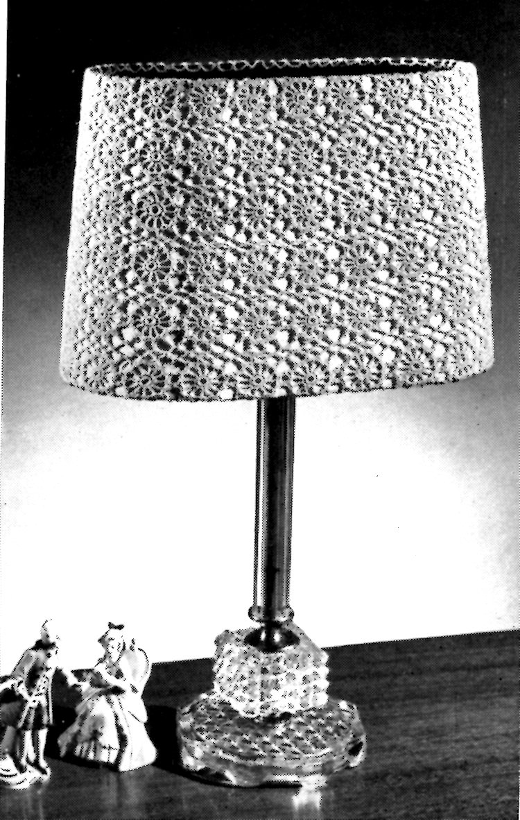 Crocheted lamp shade patterns archives vintage crafts and more vintage crafts and more hairpin lace lamp shades pattern aloadofball Gallery