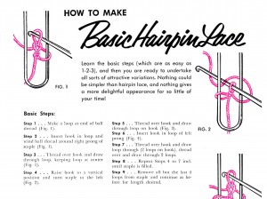Vintage Crafts and More How To Make Hairpin Lace
