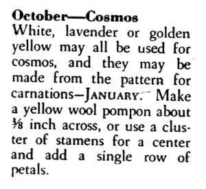 Vintage Crafts and More How to Make the October Birth Flower Cosmos Instructions