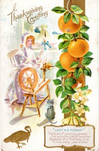 Vintage Crafts and More - Thanksgiving Greeting Antique Postcard