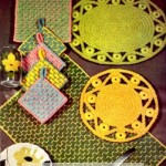 Vintage Crochet Rope Craft Placemat and Hot Plate Patterns