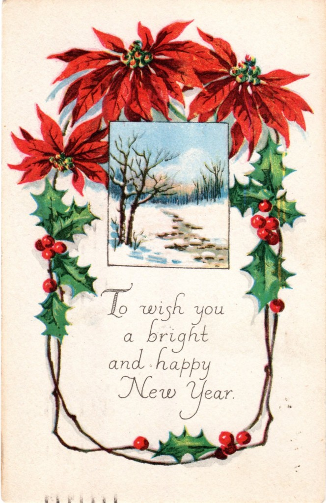 Vintage Crafts and More - Antique New Year Postcard