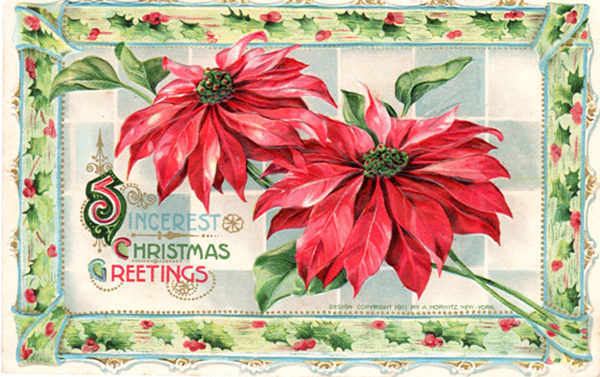 Vintage Crafts and More - Merry Christmas 2013 Antique Postcard