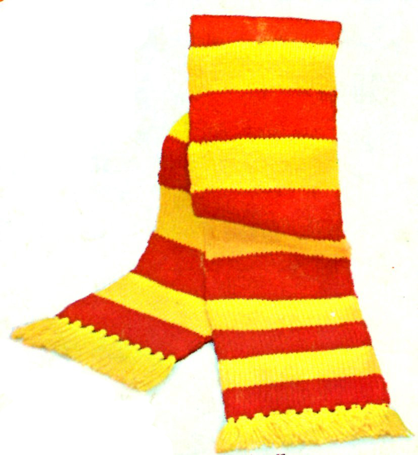 striped scarf pattern Archives - Vintage Crafts and More