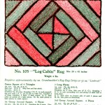 Log Cabin Crocheted Rag Rug Pattern – Fan Freebie