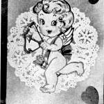 Vintage Crafts and More - Happy Cherub Valentine Paper Craft