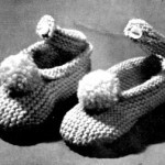 Freebie Vintage Knitting Pattern Infants Ankle Strap Shoes