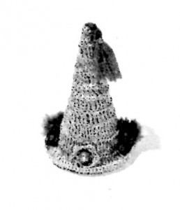 Vintage Crafts and More - Crochet Pattern Miniature Party Hat