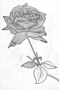 Vintage Crafts and More - Red Rose Silk Embroidery Pattern Directions