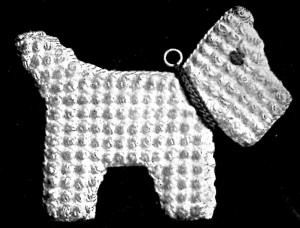 Vintage Crafts and More - Crochet Pattern Scottie in Puff Stitch Hot Pad