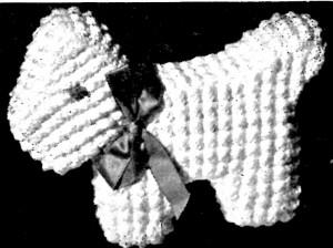 Vintage Crafts and More - Crochet Pattern Scottie in Puff Stitch Nursery Toy