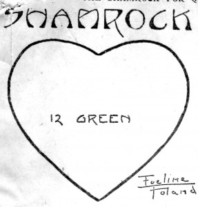 Vintage Crafts and More - One Shamrock Leaf