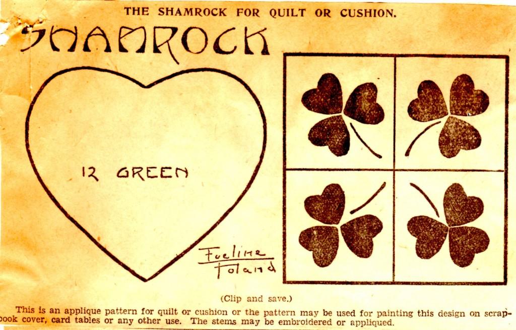 Vintage Crafts and More - Shamrock Newspaper Quilt Pattern 2
