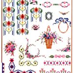 Spring Time Cross Stitch Pattern Designs of Flowers, Borders and Edgings