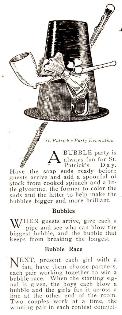 Vintage Crafts and More - St Patricks Day Bubble Party