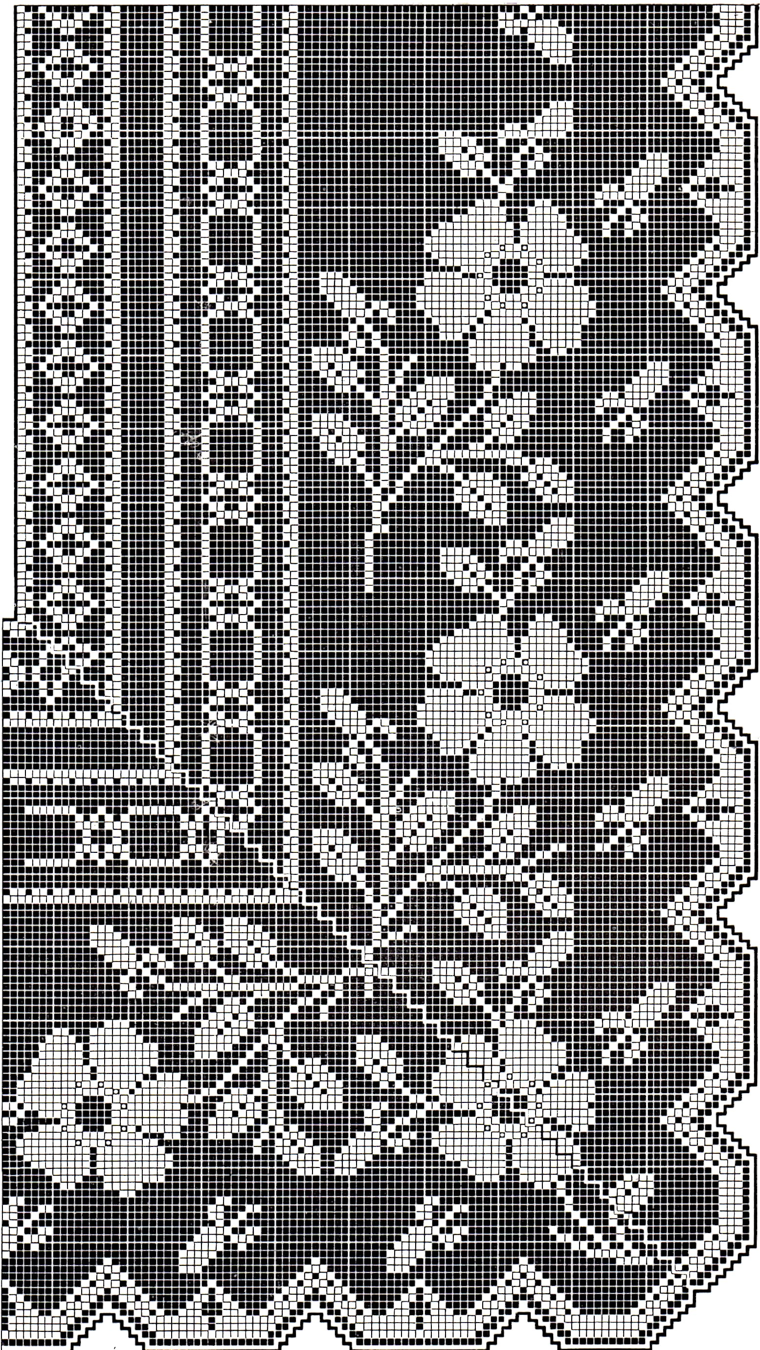 Victorian filet crochet pattern floral tea table cloth diagrams vintage crafts and more filet crochet pattern flower border ccuart Gallery