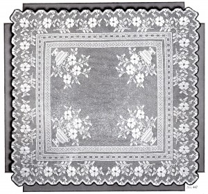 Vintage Crafts and More - Filet Crochet Pattern Tea Table Cloth