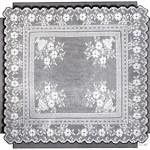Victorian Filet Crochet Pattern Floral Tea Table Cloth Diagrams