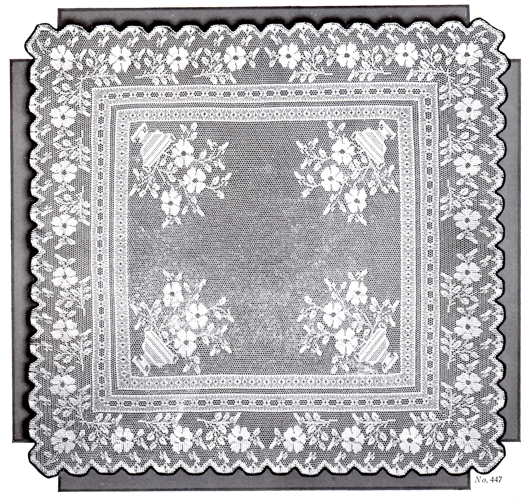 Victorian filet crochet pattern floral tea table cloth diagrams vintage crafts and more filet crochet pattern tea table cloth dt1010fo