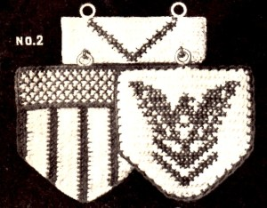 Vintage Crafts and More - Emblem Pot Holder Crochet Pattern