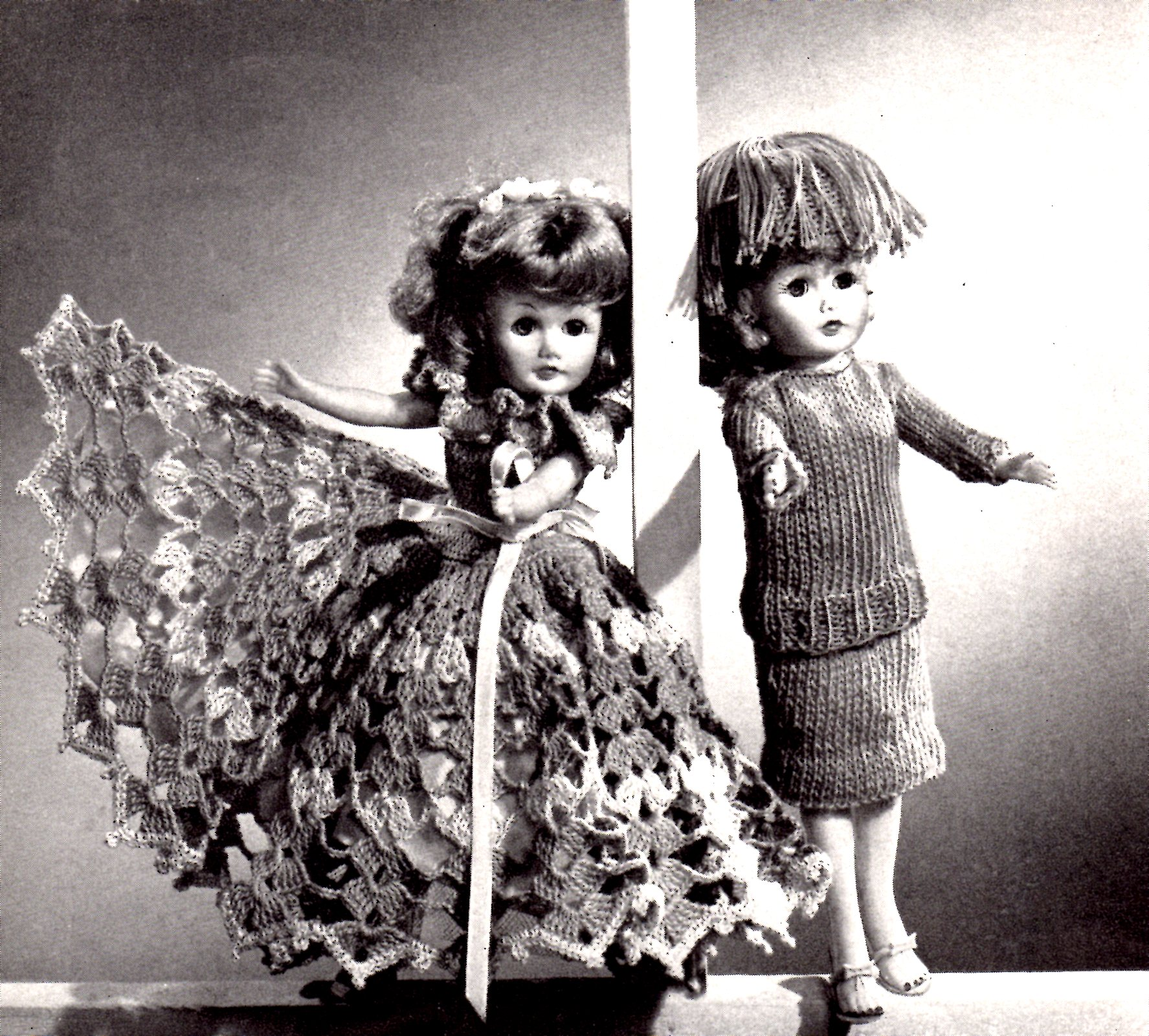 Knit and Crochet Doll Clothes Patterns - VTNS Fan Freebie - Vintage ...