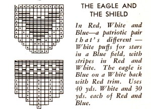 Vintage Crafts and More - The Eagle and The Shield Pot Holders Crochet Patterns
