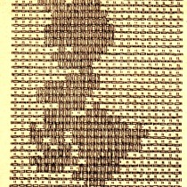 Vintage Crafts and More - Bunny Huck Weaving Pattern