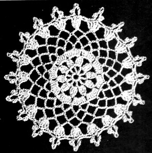 Vintage Crafts and More - Young Love Lacy Openwork Crochet Tablecloth Pattern Motif