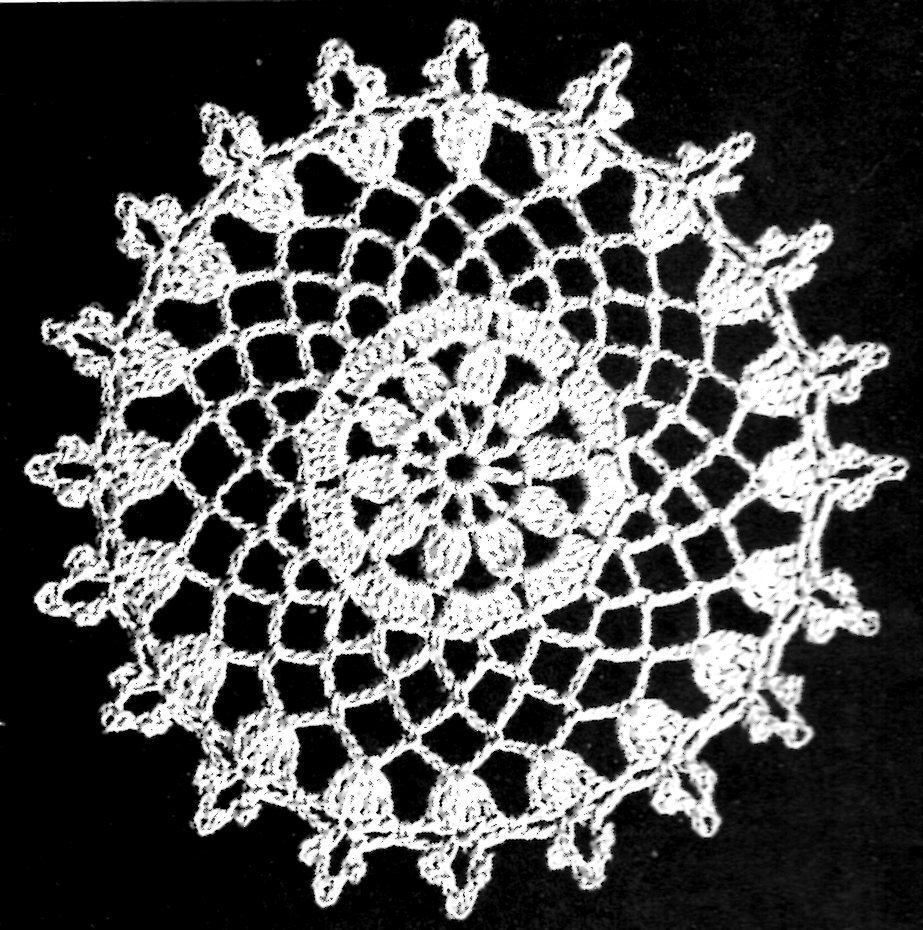 Young Love Lacy Openwork Crochet Tablecloth Pattern Instructions ...