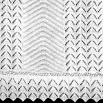 Knitting Pattern for a Bedspread in a Pointed Leaf Design