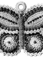 Free Vintage Crochet Pattern A Butterfly Potholder