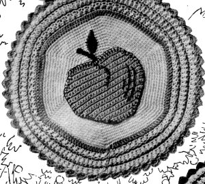 Apple Potholder Crochet Pattern Pic - Vintage Crafts and More