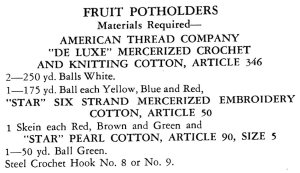 Fruit Potholders Crochet Pattern Materials Required - Vintage Crafts and More