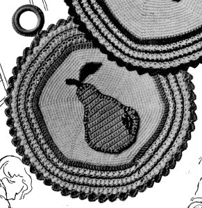 Pear Potholder Crochet Pattern Pic - Vintage Crafts and More