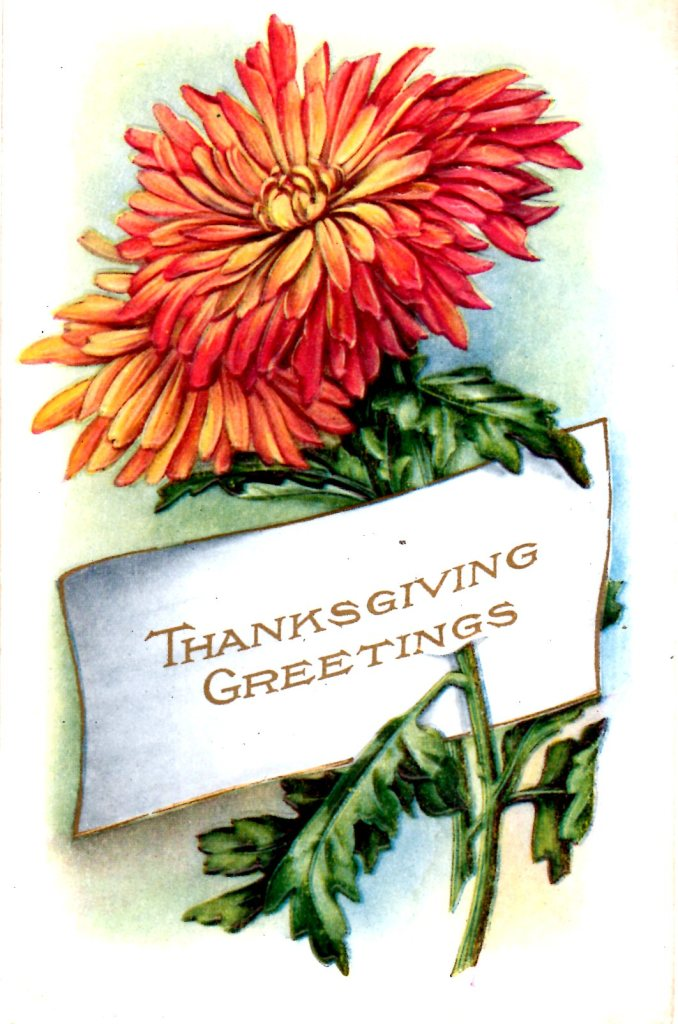 Thanksgiving Greeting Postcard - Vintage Crafts and More