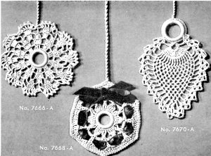 Crochet Shade or Lamp Pulls as Christmas Ornaments - Vintage Crafts and More