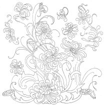 Floral Chrysanthemums Mums Embroidery Design Free - Vintage Crafts and More