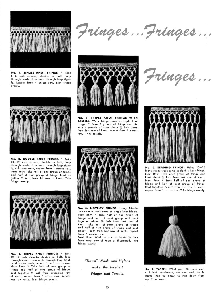 How to Make Fringe and Tassels - Vintage Crafts and More