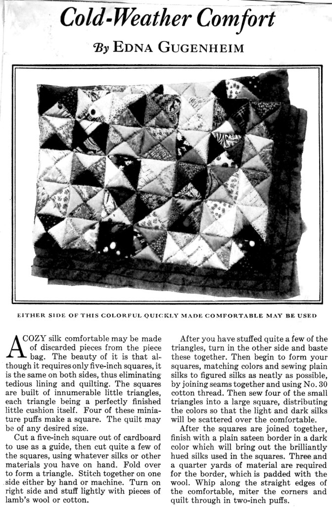 Puff Quilt Pattern - Vintage Crafts and More