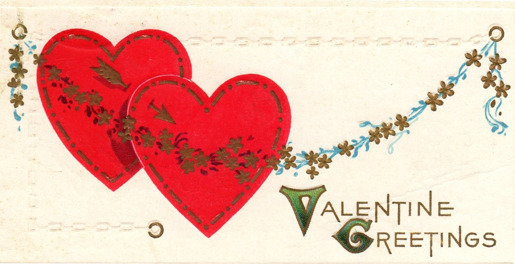 Happy Valentines Day Post Card - Vintage Crafts and More