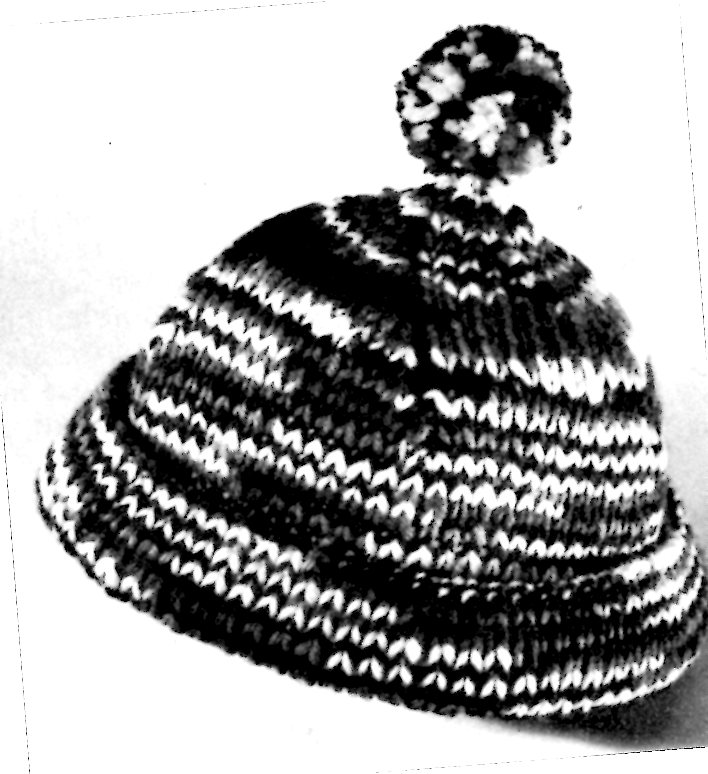 Vintage Hat Knitting Pattern Winter Knit Ski Cap Vintage Crafts