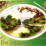St. Patrick's Day Antique Postcard – Meeting of the Waters Killarney