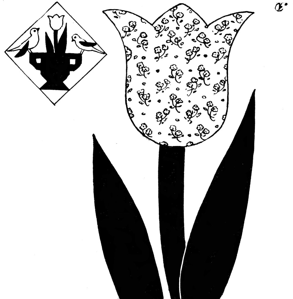 Tulip Pattern for Garden Bouquet Quilt Applique - Vintage Crafts and More
