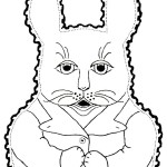 Bunny Rabbit Baby Bib Embroidery Design