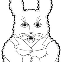 Bunny Rabbit Baby Bib - Vintage Crafts and More