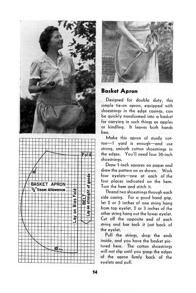 Dresses and Aprons for work in the Home 1952 Revised