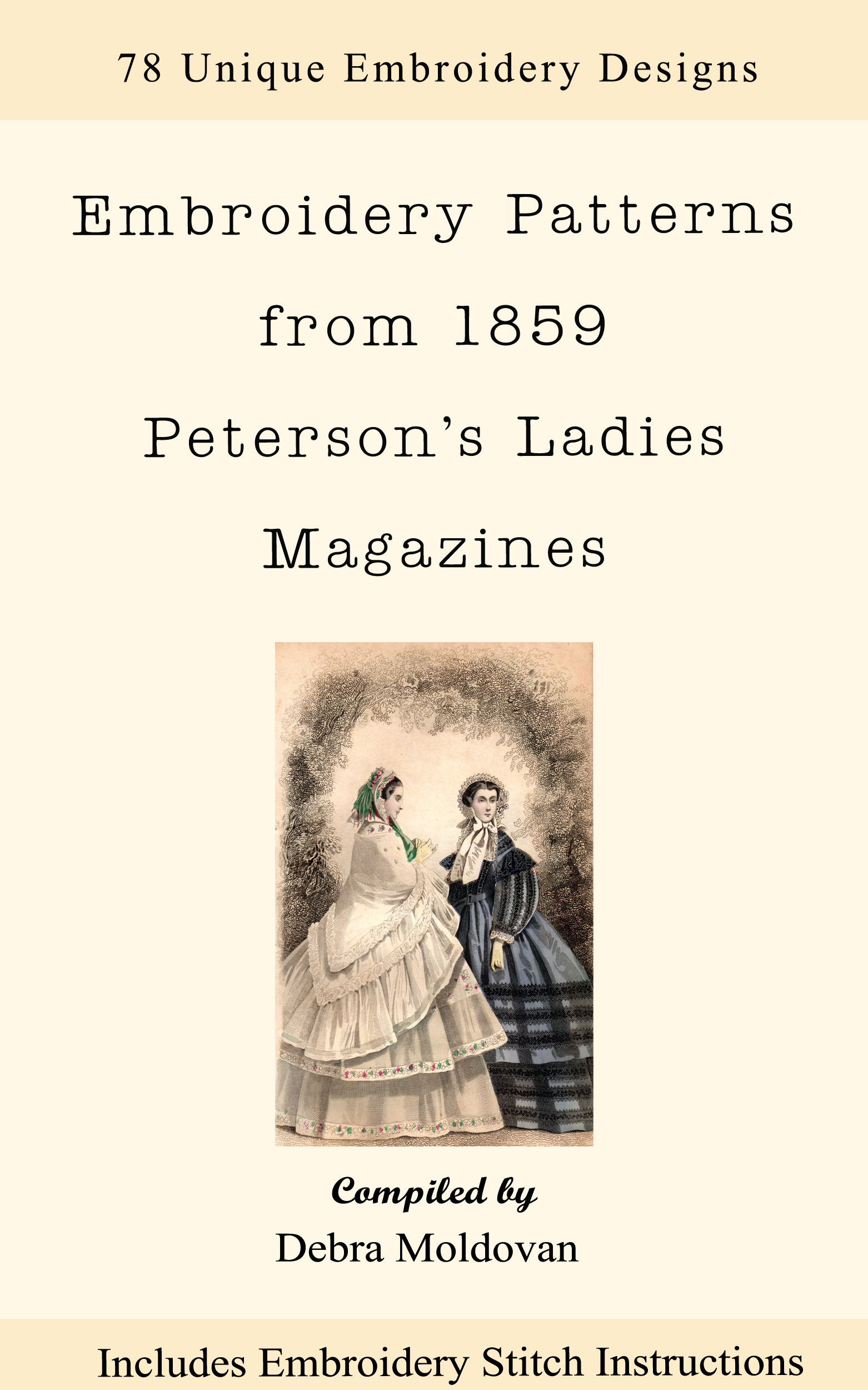 Embroidery Patterns Pdf Ebook Designs From The Antebellum Years